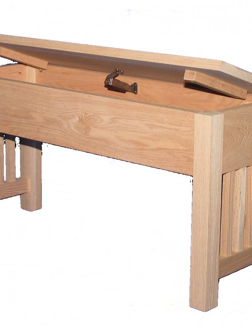 22 Series Mission Bench with Storage - open lid