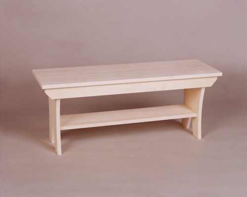 2521-36 Maple Country Bench Unfinished