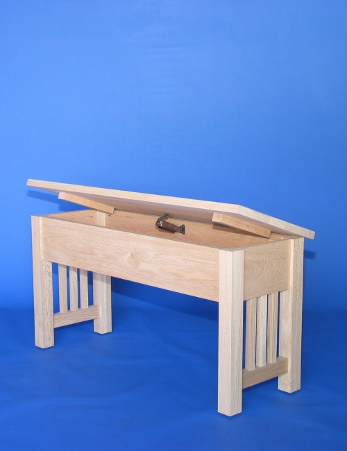 Mission Bench With Shallow Storage 22 Series