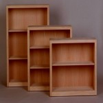 "Oak contemporary bookcases 30"", 36"" and 48""H Unfinished"