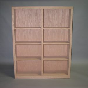 Oak Contemporary Bookcase Unfinished 32-4860-12
