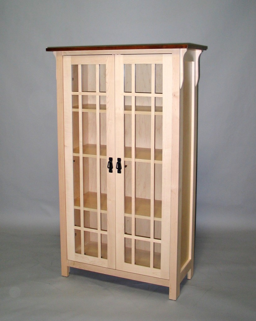 Maple Mission Cabinet Clear Coated with stained top #20600