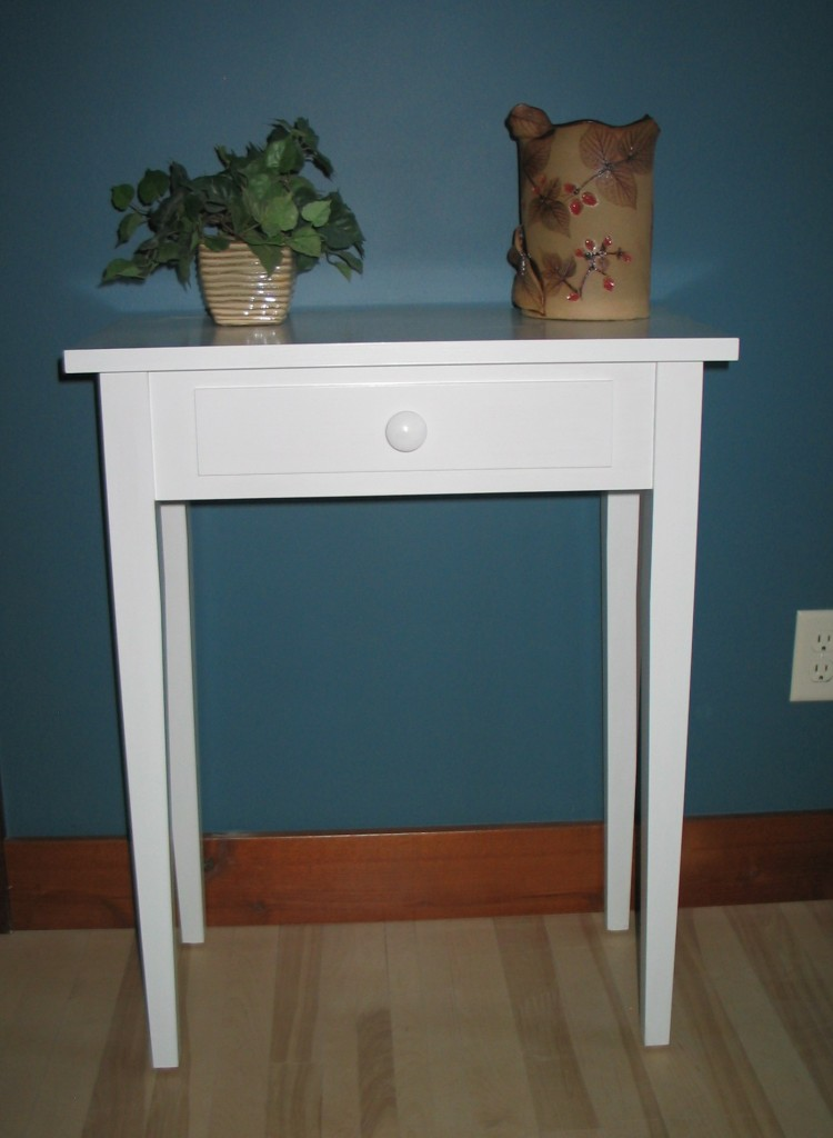 2114-24 Maple Shaker Hall Table - White Paint