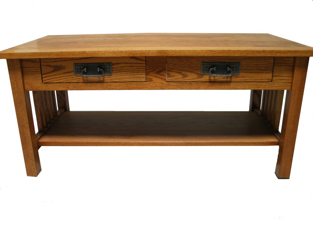 3010 Mission Red Oak Coffee Table