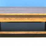 3009 Mission Red Oak Square Coffee Table Special Walnut Finish