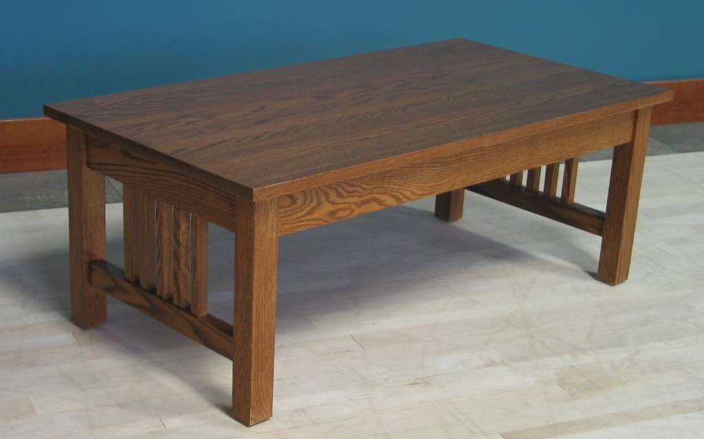 3010 Mission Red Oak Coffee Table Modified No drawer or shelf Provincial Stain