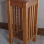 3018-24 Oak Mission Plant Stand - Provincial Stain