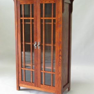Red Oak Mission Cabinet Early American Stain special handle #30600