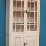 Modified Red Oak Mission 2 Tier Cabinet Unfinished #30601
