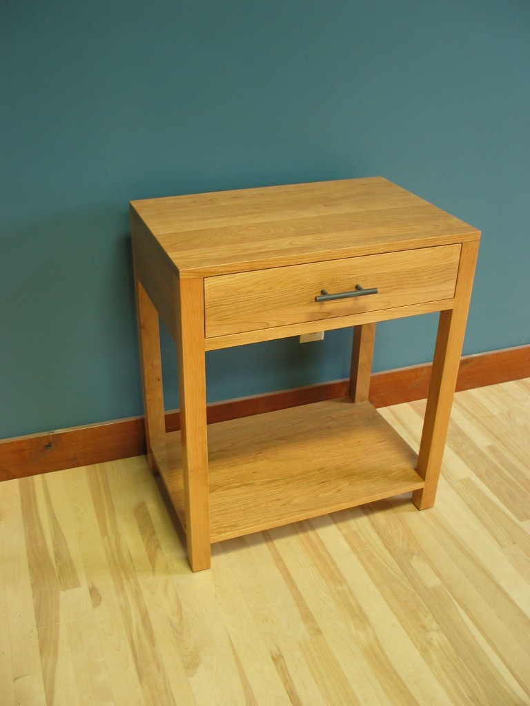 4012 Modified Cherry Contemporary EndTable - Nighstand Natural Stain