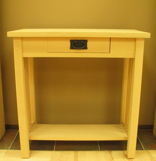 Mission Foyer Cabinet : Hall table w drawer