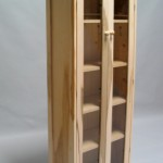 Modified Hickory 2 door cabinet Clear finish 60602