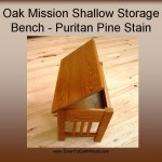 Oak Mission shallow storage bench