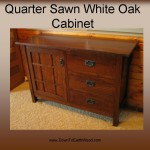 Quarter Sawn White Oak Cabinet