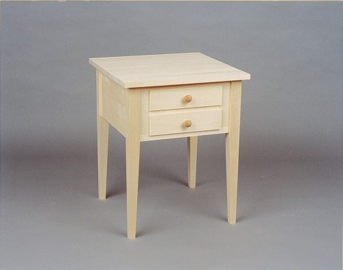 ... Shaker End Table   Nightstand With 2 Drawers   Unfinished