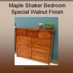 Shaker Maple 50 in dresser special walnut