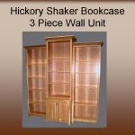Hickory Bookcase Wall unit