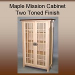 Maple Mission Cabinet w/ Two Toned Finish