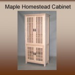 Maple Homestead Two Tier Display Cabinet