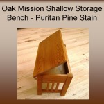 Oak Mission Shallow Storage Bench w/ Puritan Pine Stain