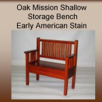 Oak Mission Shallow Storage Bench w/ Early American Stain