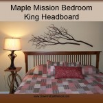 Maple Mission Bedroom King Headboard 20353-H