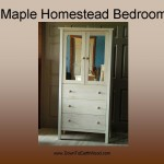 Maple Homestead Bedroom 23223 with mirror inserts