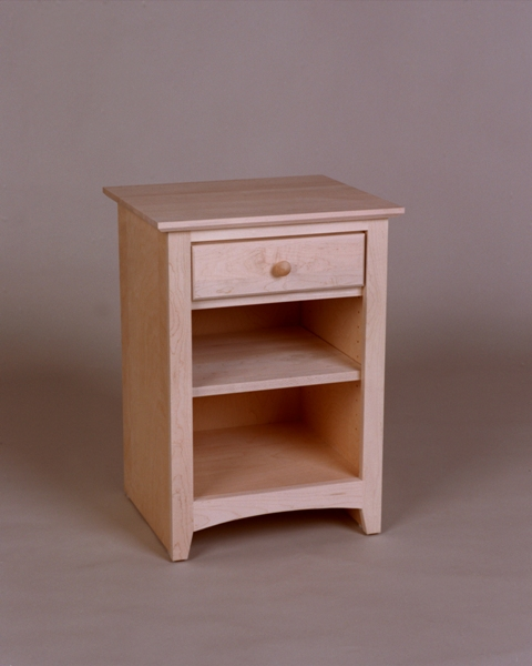 Maple Shaker 1 Drawer Nightstand - Unfinished #21201
