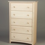 21205-D Maple Shaker 5 Deep Drawer Chest - Unfinished