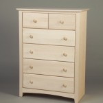 21205-S Maple Shaker 5 Split Drawer Chest - Unfinished