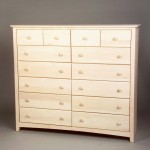 21212-S Maple Shaker 12 Drawer Dresser - Unfinished