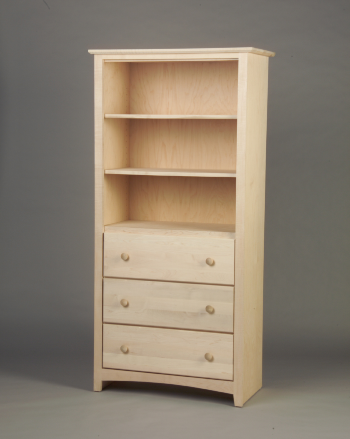 Shaker Maple 3 Deep Drawer Armoire 21223 - No Doors