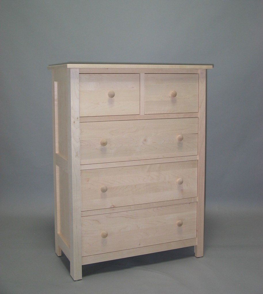 23204-DS Maple Homestead 4 Split Deep Drawer Chest - Unfinished