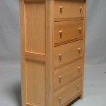 23205-D Maple Homestead Deep Drawer Chest - side view - Clear Coat Only Finish