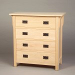 30204 Oak Mission 4 Drawer Chest - Unfinished