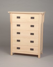 30205 - Oak Mission 5 Drawer Chest - Unfinished