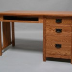 30416-KR Oak Mission Single Pedestal Desk Pull Out Tray - Provincial Stain