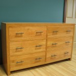 43206-D Modified Cherry Contemporary 6 Deep Drawer Dresser - Natural Stain