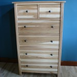 63205-DS Hickory Five Split Deep Drawer Chest - Clear Coat Only