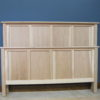 Hickory Shaker Modified Queen Bed - Unfinished 61352