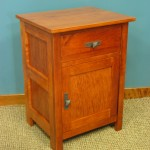 Maple Homestead One Drawer Nighstand with Door Option - Antique Cherry Stain - 23201-DR side view