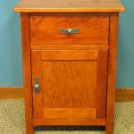 Maple Homestead One Drawer Nightstand with Door Option - Antique Cherry Stain 23201-DR