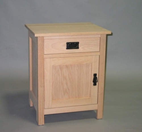 Natural Maple Wood Nightstand