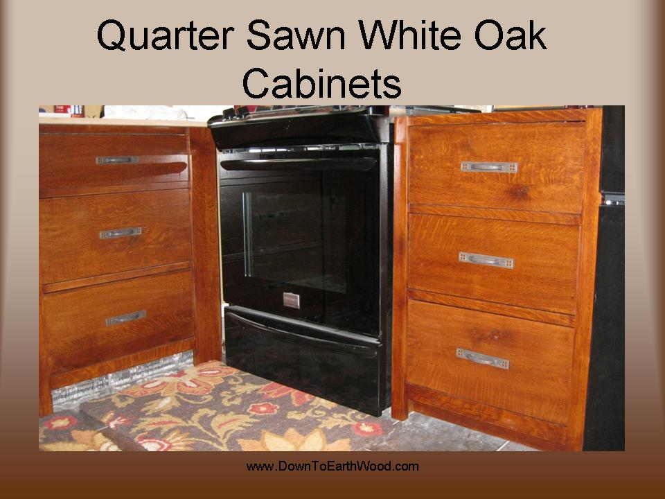 Quarter Sawn White Oak Cabinets Early American Stain 2