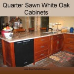 Quarter Sawn White Oak Cabinets - Early American Stain - 5