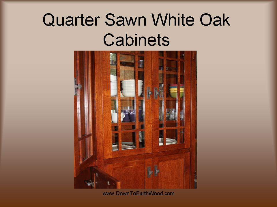 ... Quarter Sawn White Oak Cabinets   Early American Stain   6 ...