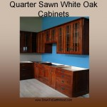Quarter Sawn White Oak Cabinets - Early American Stain - showroom