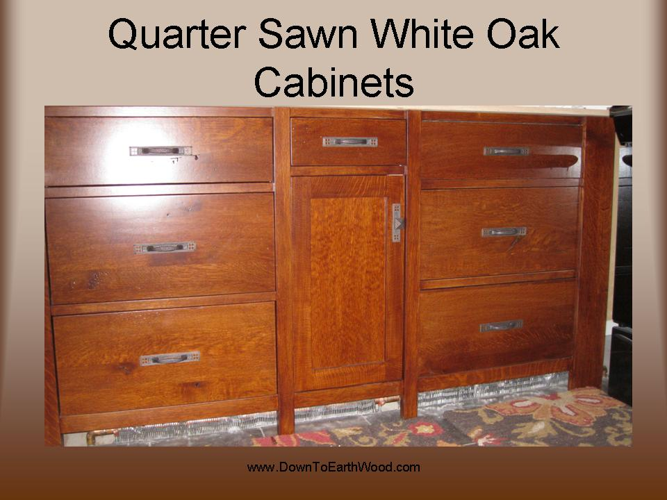 Quarter Sawn White Oak Cabinets – Early American Stain | Down to ...