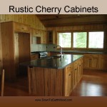 Rustic Cherry Custom Kitchen Cabinets -2