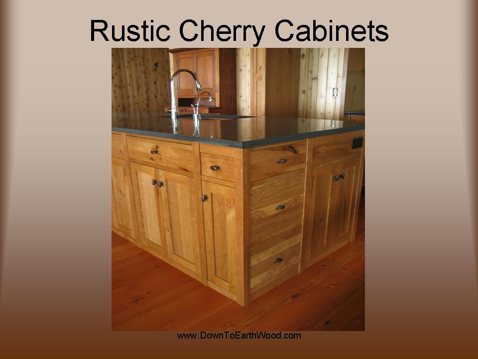 Rustic Cherry Kitchen Cabinets Down